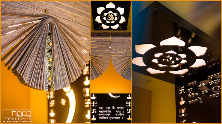 Pooja Room Details by HGCG Architects
