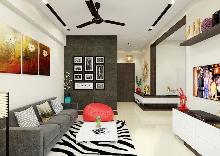 Elegant Living Room Interiors by HGCG Architects