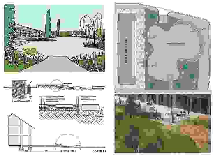 Jardin moderne par Dhena CONSTRUCCION DE JARDINES Moderne Béton