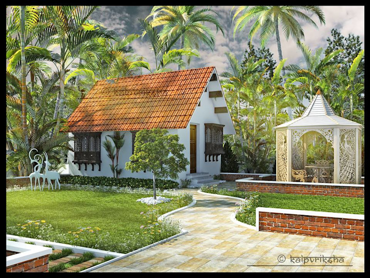 RESIDENCE Asian style houses by KARU AN ARTIST Asian