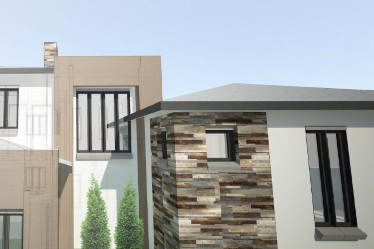 Facade design Modern houses by A4AC Architects Modern