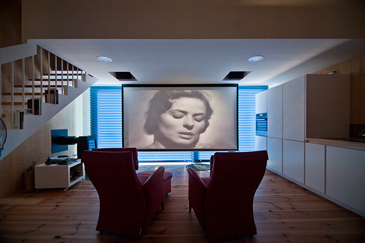 MapOut Modern style media rooms