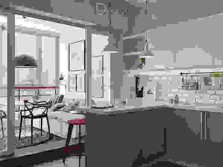 Эстетика чистоты (дизайн-проект): Кухни в . Автор – Design Service, Эклектичный