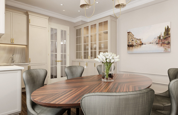 Classic style dining room by Alexander Krivov Classic