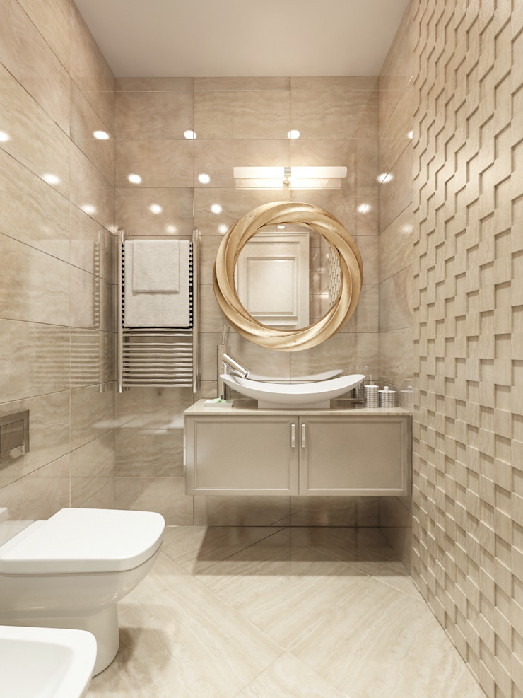 Classic style bathrooms by Alexander Krivov Classic Tiles