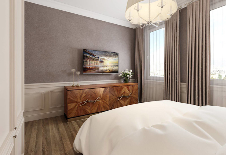 Classic style bedroom by Alexander Krivov Classic