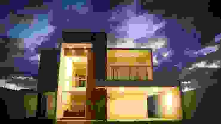 Moderne Häuser von Renato Medeiros Arquitetura Modern Beton