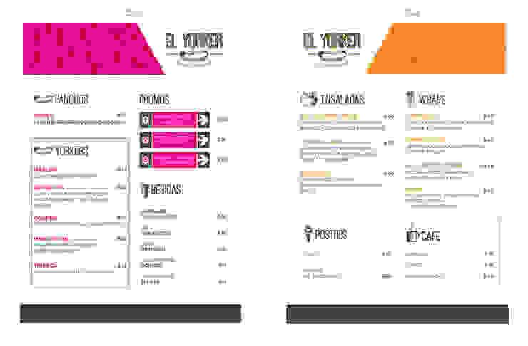 diseño de locales • EL YORKER:  de estilo industrial por Estudio Cebra,Industrial