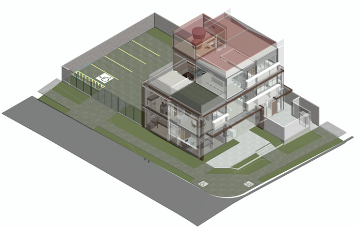 Logi Arquitetura Clínicas de estilo moderno