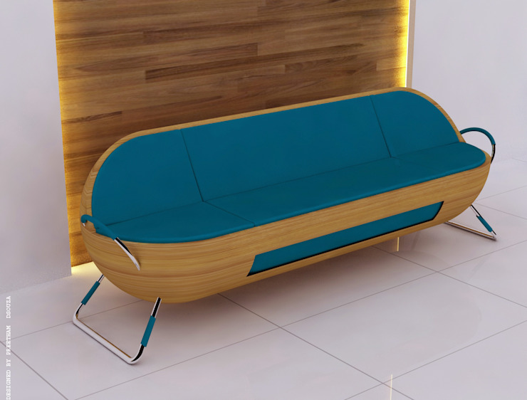 Capsule sofa - Blue: modern  by Preetham  Interior Designer,Modern