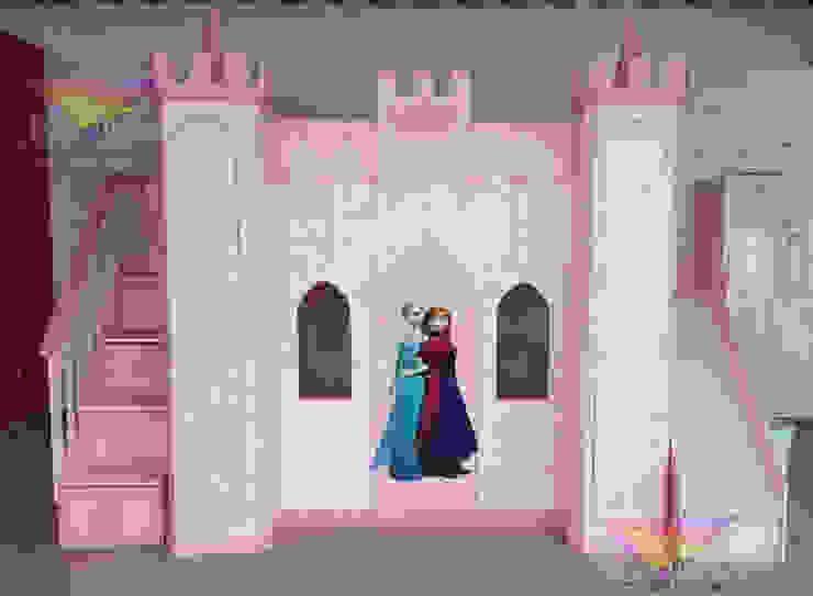 Castillo Angelical con tema de Frozen de camas y literas infantiles kids world Clásico Derivados de madera Transparente