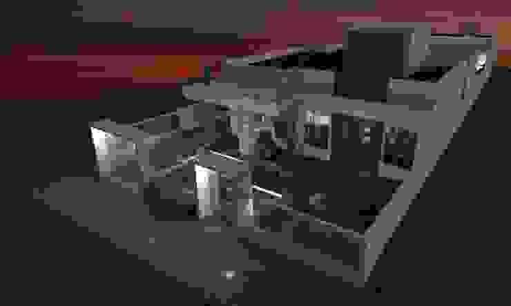 RESIDENCIA J.M Daiana Pasqualon Arquitetura & Lighting Casas modernas