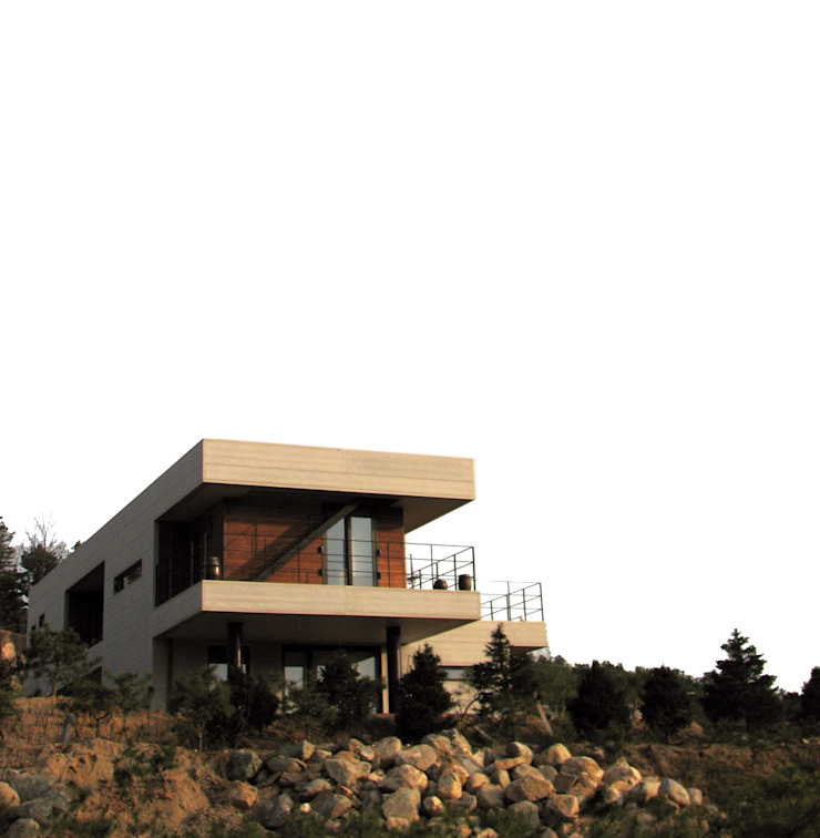Modern Houses by 스투디오 테이크 Modern