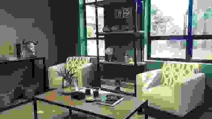 Eco Elementum Office Reception Area by GSI Interior Design & Manufacture Minimalist Iron/Steel