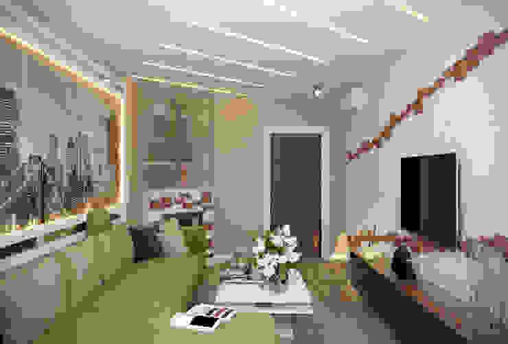 Студия интерьерного дизайна happy.design 现代客厅設計點子、靈感 & 圖片