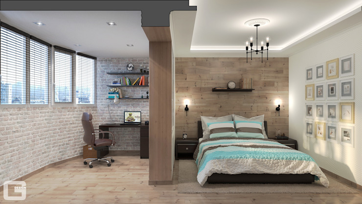 غرفة نوم تنفيذ Giovani Design Studio, إسكندينافي