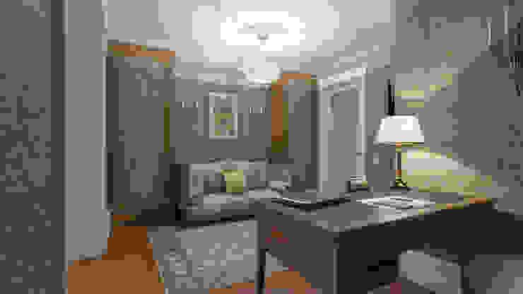 Визуализация интерьера кабинета. Автор проекта Надежда Штрымова. Рабочий кабинет в классическом стиле от Aleksandra Kostyuchkova Классический