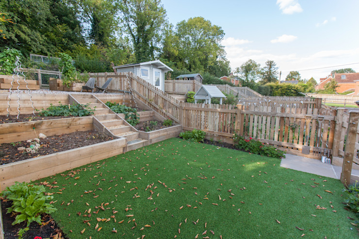 Jardines de estilo  por Hampshire Design Consultancy Ltd., Rural