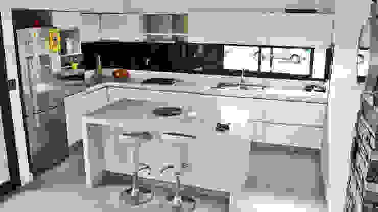 Dapur oleh Estudio Fernández+Mego, Minimalis
