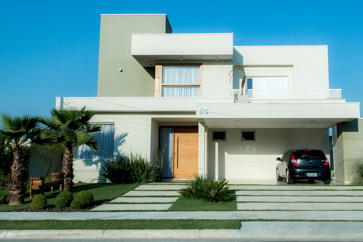 SOBRADO FUNCIONAL Casas modernas por Camila Castilho - Arquitetura e Interiores Moderno