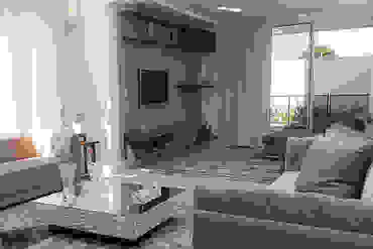 SOBRADO FUNCIONAL Salas multimídia modernas por Camila Castilho - Arquitetura e Interiores Moderno