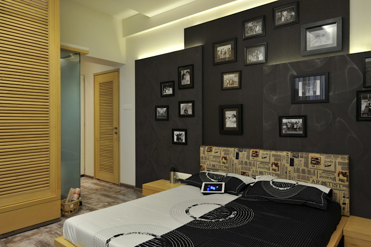 homify Modern style bedroom Plywood Black