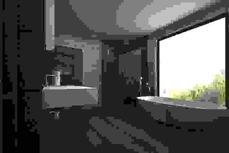 master bathroom A Mans Creation Modern bathroom Black
