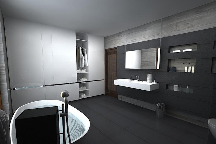 master bathroom A Mans Creation Modern bathroom