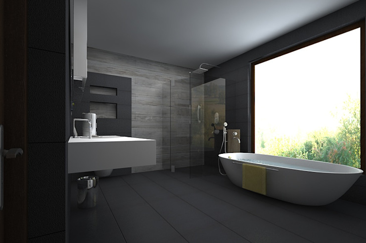 master bathroom A Mans Creation Modern style bathrooms