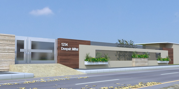 proposed boundary wall A Mans Creation Modern houses