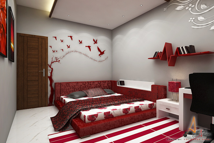 daughter's room Modern style bedroom by A Mans Creation Modern