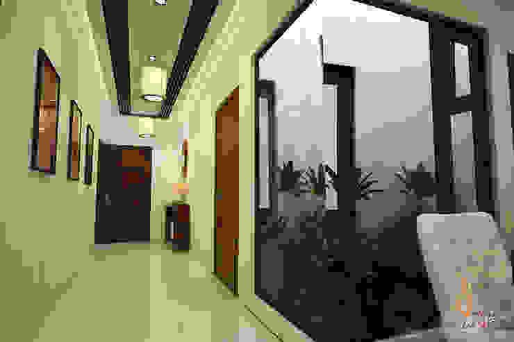 hospital Modern corridor, hallway & stairs by A Mans Creation Modern