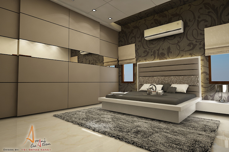 master bedroom Modern style bedroom by A Mans Creation Modern