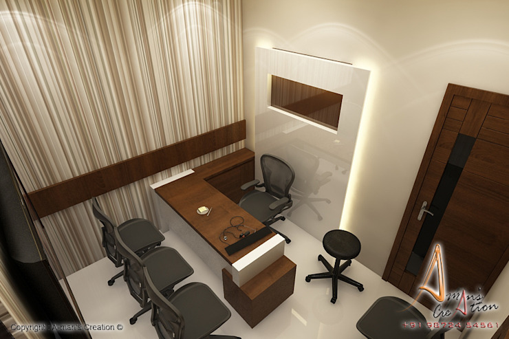 opd Modern study/office by A Mans Creation Modern