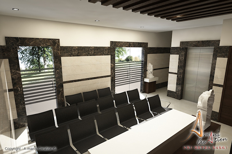 reception Modern living room by A Mans Creation Modern