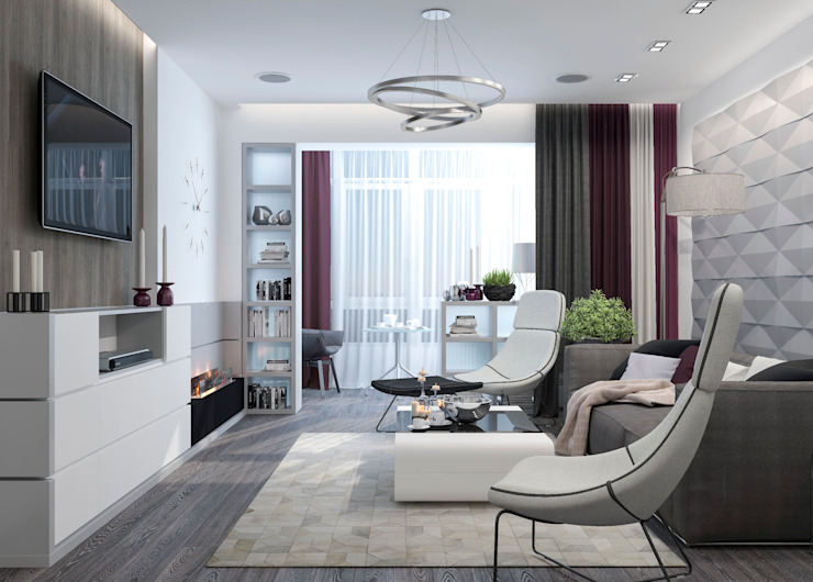 Living room by Студия дизайна Дарьи Одарюк