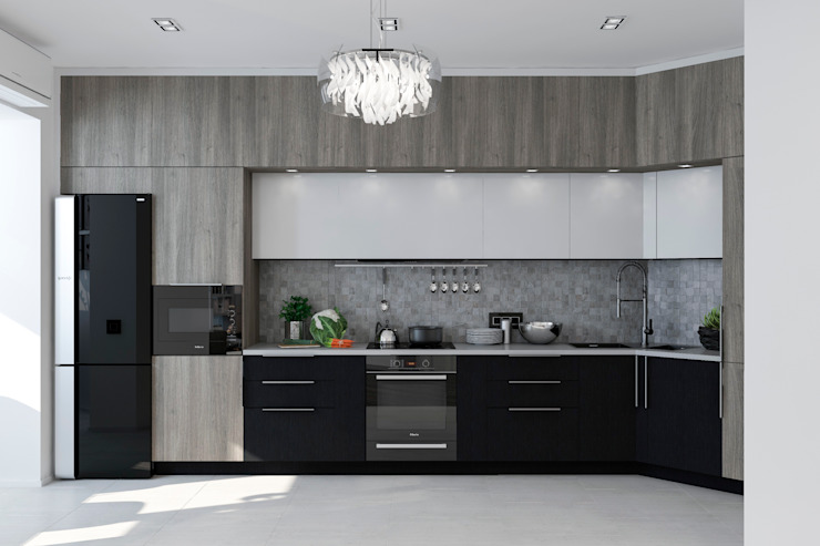 Студия дизайна Дарьи Одарюк Modern Kitchen Multicolored