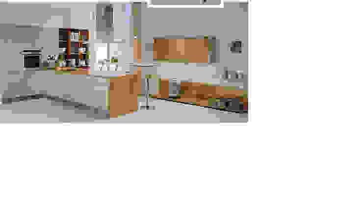 Ply laminate modular kitchen high gloss Modern kitchen by param associates Modern Plywood