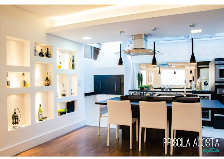 Modern kitchen by Priscila Acosta Arquitetura Modern
