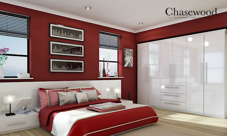 Wardrobe homify BedroomWardrobes & closets Wood-Plastic Composite White