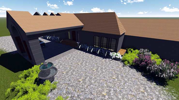 View One. Modern houses by The Lazy Owl Designs Modern
