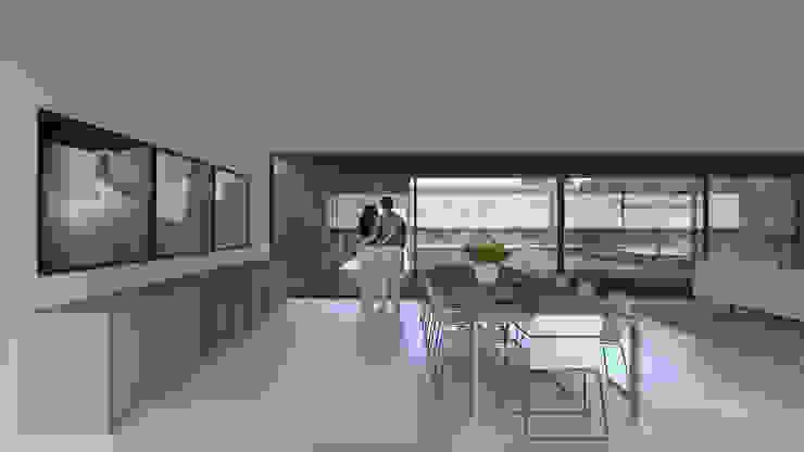 Casa Lamego Salas de jantar modernas por Lousinha Arquitectos Moderno