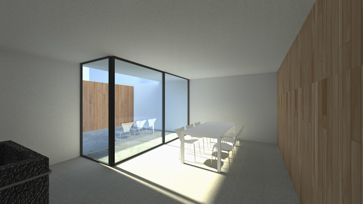 Casa Fonte Salas de jantar modernas por Lousinha Arquitectos Moderno