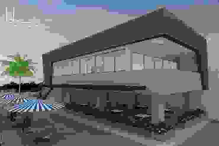 Perspectiva general Salas multimedia de estilo moderno de John Robles Arquitectos Moderno