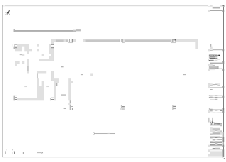 Planta arquitectónica de John Robles Arquitectos Moderno