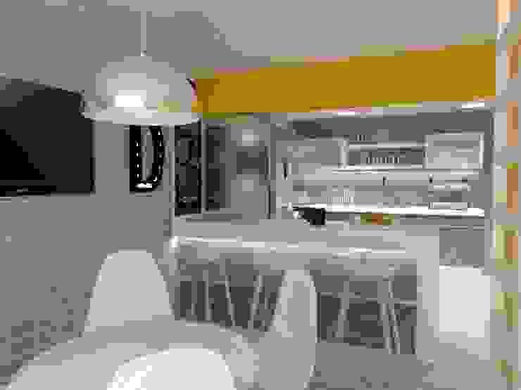COCINA-COMEDOR Cocinas eclécticas de AurEa 34 -Arquitectura tu Espacio- Ecléctico