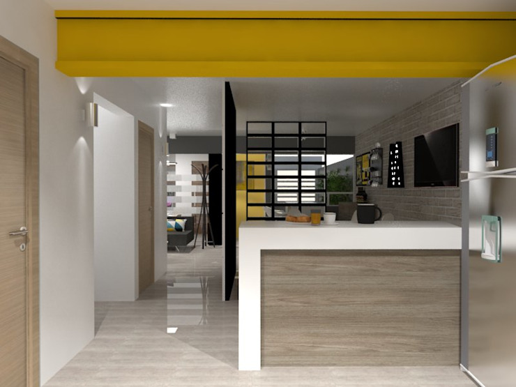 PASILLO Pasillos, vestíbulos y escaleras eclécticos de AurEa 34 -Arquitectura tu Espacio- Ecléctico