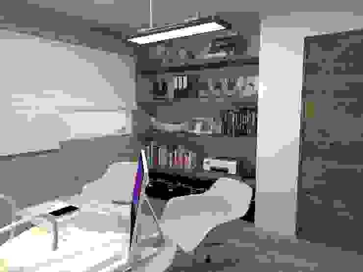LIBRERO Estudios y despachos industriales de AurEa 34 -Arquitectura tu Espacio- Industrial Ladrillos