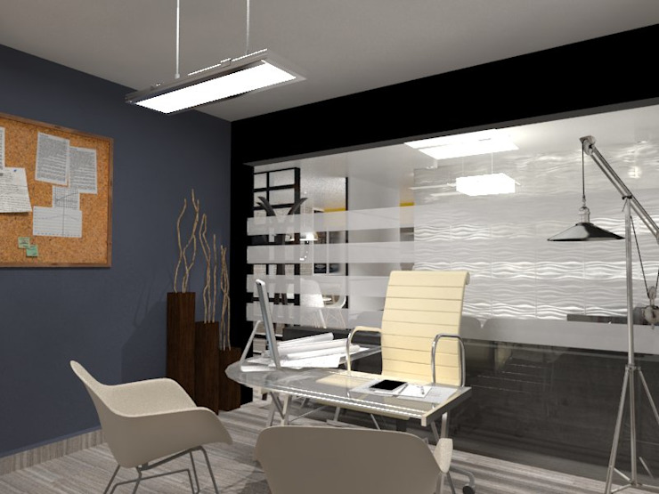 OFICINA Estudios y despachos industriales de AurEa 34 -Arquitectura tu Espacio- Industrial Vidrio