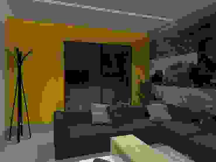 SALA TV Salas multimedia eclécticas de AurEa 34 -Arquitectura tu Espacio- Ecléctico